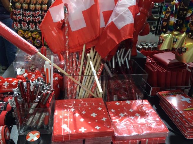 Eine geballte Ladung Schweizer Kreuze für den Bundesfeiertag